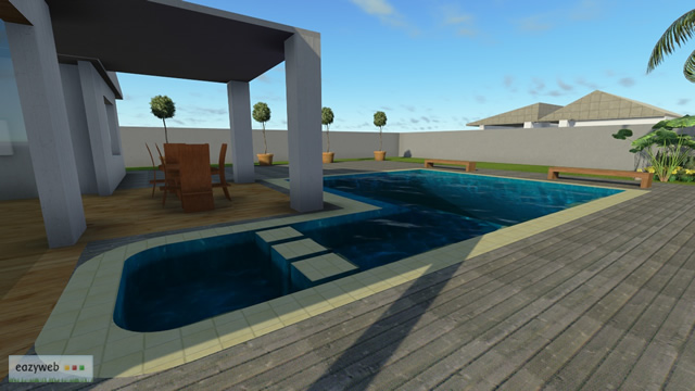 House with Pool, Final Render 1
