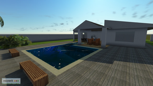 House with Pool, Final Render 2