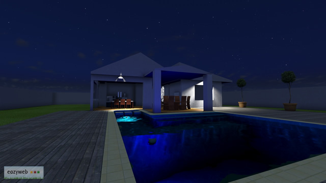 House with Pool, Final Render 3